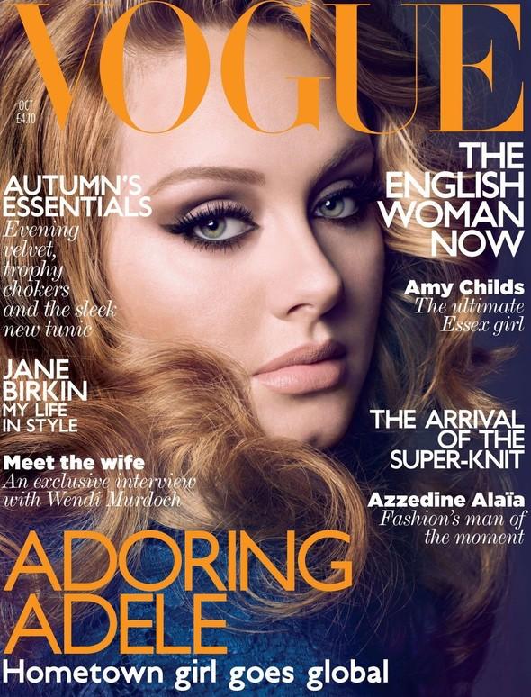 Адель снялась для обложки Vogue. Изображение № 1.