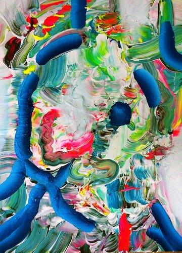 Художница пишет маслом компьютерные глитчи. Изображение № 7.