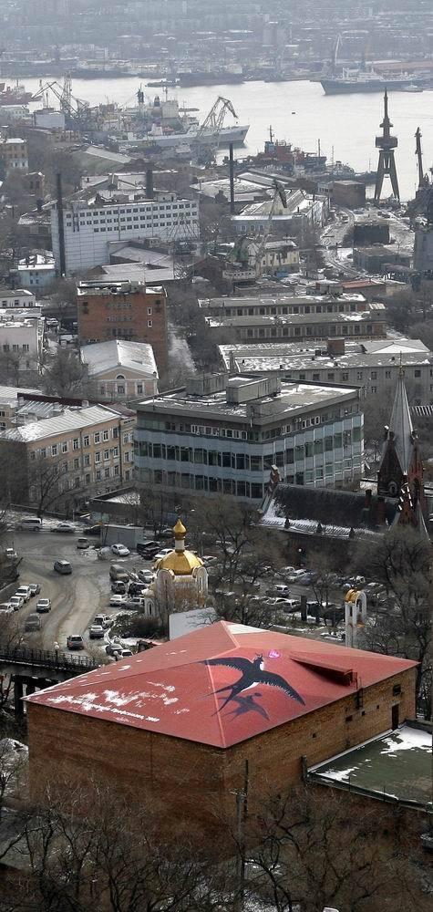 Роспись «Первая ласточка», 2009. Изображение № 1.