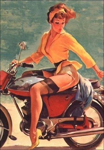 Изображение 1. Pin up girls love cars, airplans and motorcycles.. Изображение № 1.