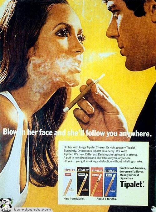 Винтажная реклама, которую запретили бы сегодня. Изображение № 8.