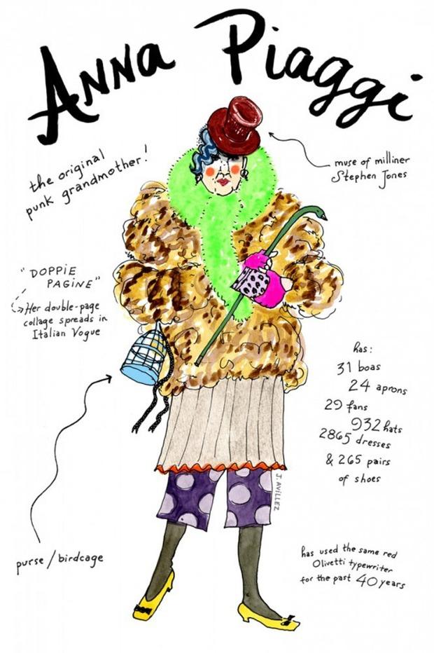 Иллюстрации икон моды от Джоаны Авильес. Изображение № 3.
