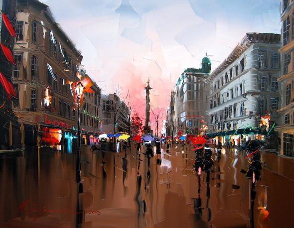 Красные зонтики художника Kal Gajoum. Изображение № 16.