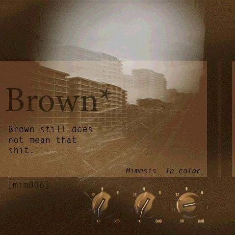 Bzhn — Brown. Изображение № 1.