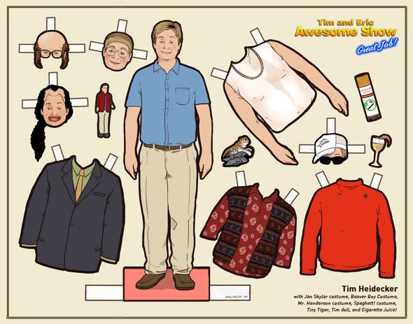 Бумажные куклы «Во все тяжкие», «Драйва» и другие. Изображение № 10.
