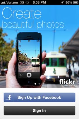 Вышло новое мобильное приложение Flickr. Изображение № 1.