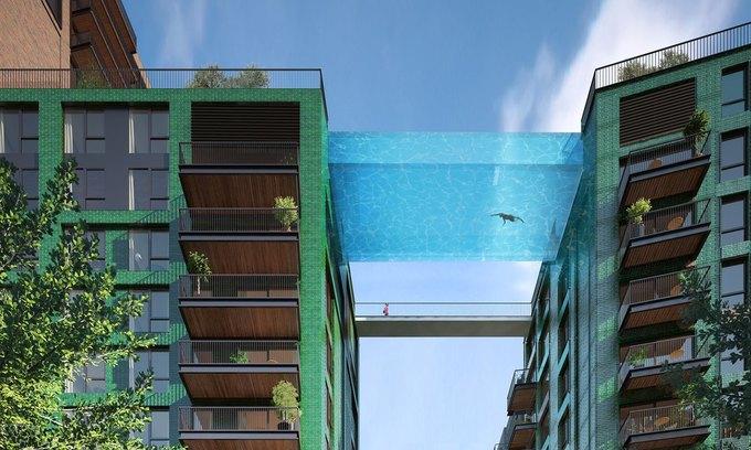 В Лондоне построят прозрачный бассейн между двух домов. Изображение № 1.