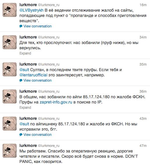 Официальный твиттер «Луркморья». Изображение №1.