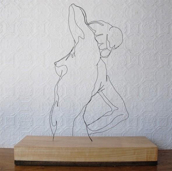 Скульптуры из проволоки Гэвина Ворта. Изображение № 11.