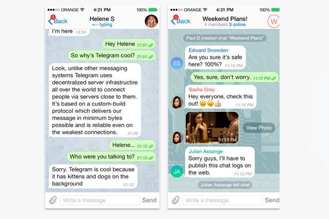 Скриншоты Telegram. Изображение № 1.