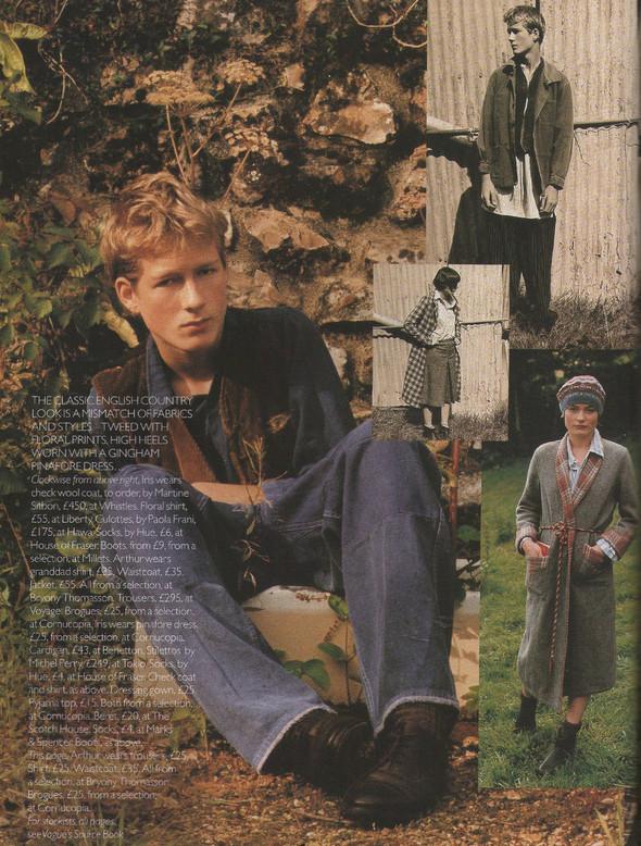Архивная съёмка: Тим Уокер для Vogue, 1996. Изображение № 11.