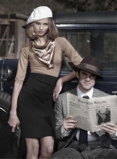 Бонни и Клайд в Harpers Bazaar. Изображение № 4.