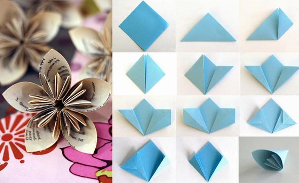 Оригами своими руками цветок