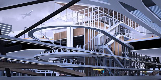 Студент предложил концепт надземного аэропорта в городе. Изображение № 2.