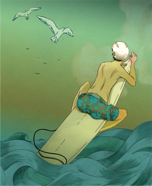 Рисунки американского иллюстратора Марко Шина.. Изображение № 28.