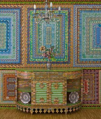 """""""Дом мечты"""", сделанный из 70000 лотерейных билетов. Изображение № 3."""