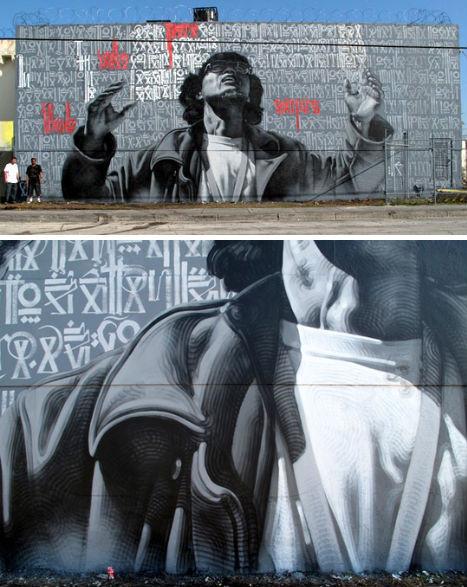 6 невероятных проектов уличных фресок. Изображение № 6.