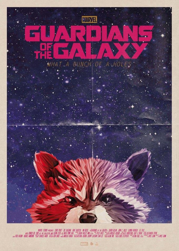 Опубликованы 44 фанатских постера к «Стражам Галактики». Изображение № 13.
