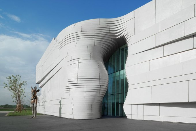 Архитектура дня: музей в Китае сбелым «слоёным» фасадом. Изображение № 4.