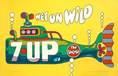 Графика 70-х thegreat hippie 7Up. Изображение № 1.