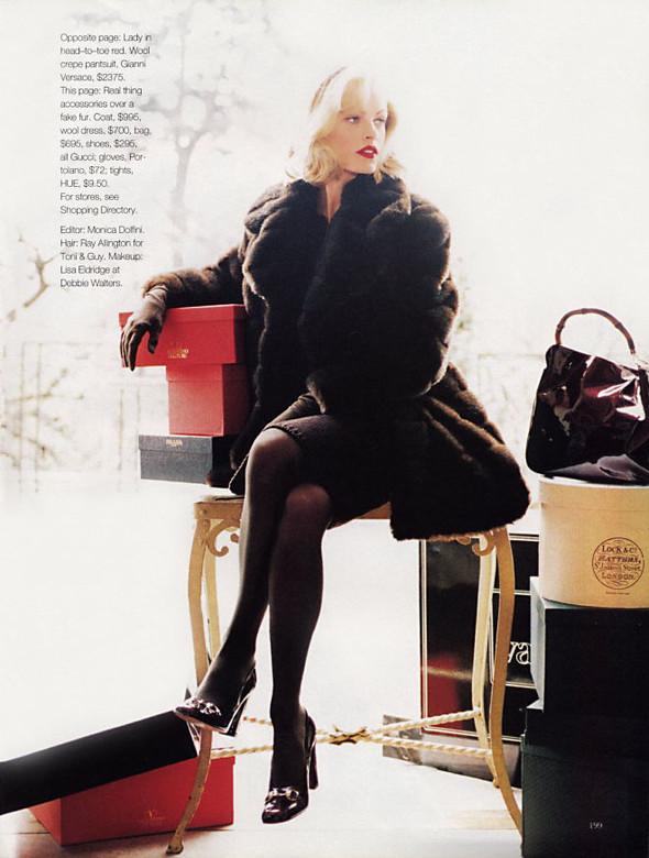 Архивная съёмка: Эмма Балфор для Marie Claire, 1995. Изображение № 7.