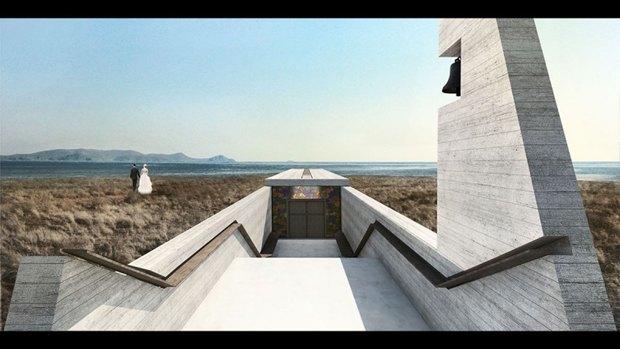 Архитектура дня: концепт церкви-креста на отвесной скале. Изображение № 9.