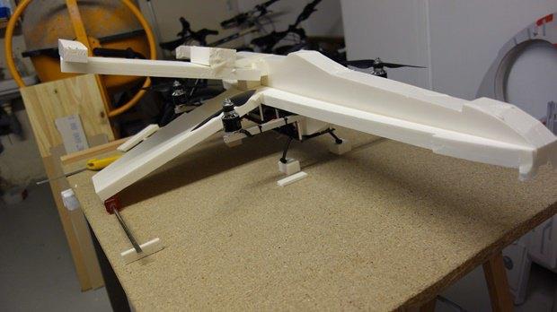 Энтузиаст собрал дрон в виде истребителя X-Wing. Изображение № 7.