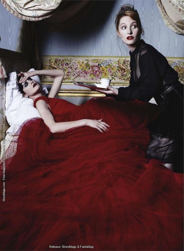 Съёмка: Карл Лагерфельд для Harper's Bazaar. Изображение № 3.