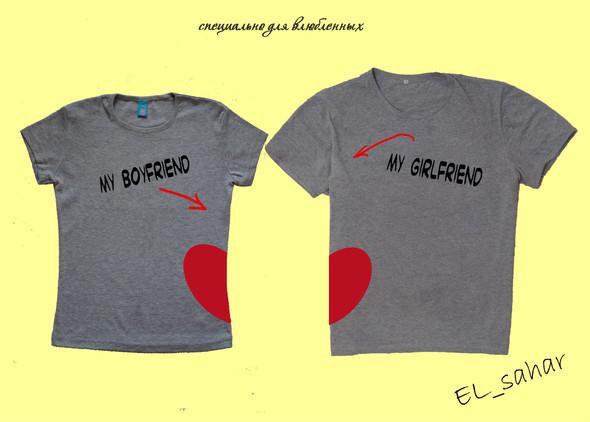 Elsaharova: половинчатые футболки на 14 февраля. Изображение № 1.