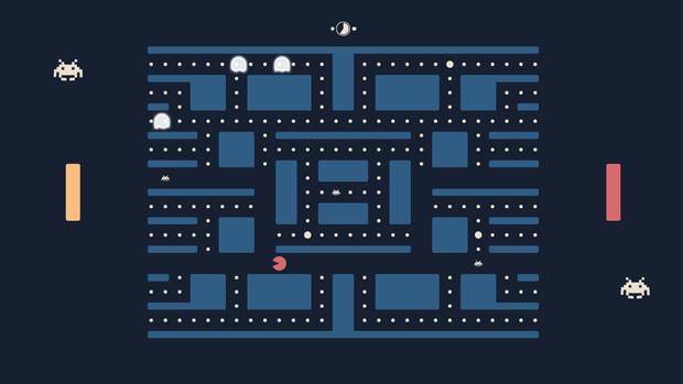 Разработчик совместил Pong, Pac-Man и Space Invaders в одной игре. Изображение № 1.