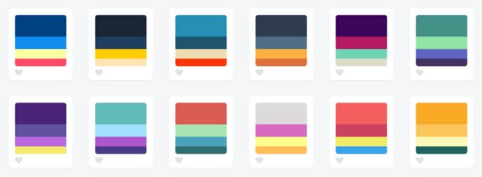 Палитры из четырёх цветов с сайта Color Hunt. Изображение № 4.