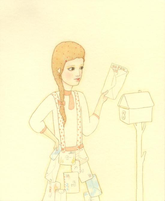 Детский иллюстратор Lilly Piri, любительница конвертов. Изображение № 11.