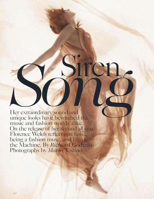 Съёмка: Флоренс Уэлш для британского Vogue. Изображение № 1.