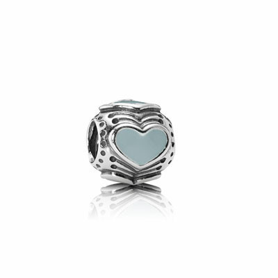 Шарм Bead Hearts w/ Light Grey Enamel. Изображение №67.