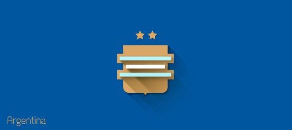 Представлены «плоские» версии гербов национальных сборных . Изображение № 23.