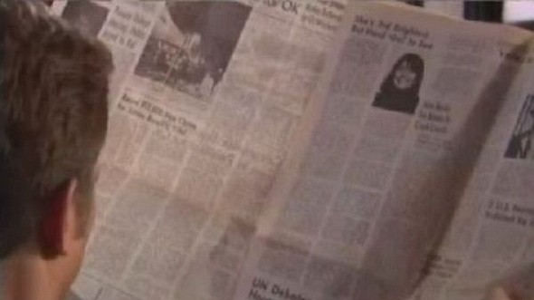 Даже голливудские реквизиторы имеют свое пасхальное яйцо, вставляя одну и ту же газету в десятки разных фильмов.. Изображение № 24.