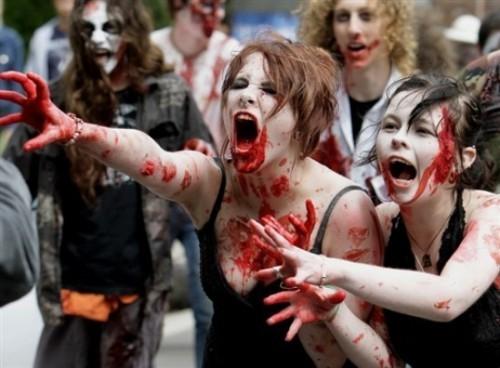 ВоФранкфурте прошел парад зомби. Изображение № 15.