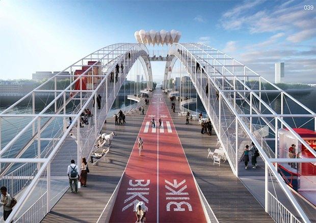Выложены 74 проекта нового моста через Темзу. Изображение № 62.