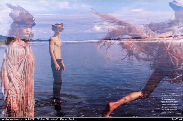Архивная съёмка: Наталья Водянова для W, 2002. Изображение № 10.