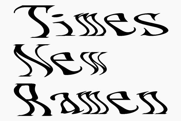 Дизайнер создал шрифт Times New Ramen. Изображение № 1.