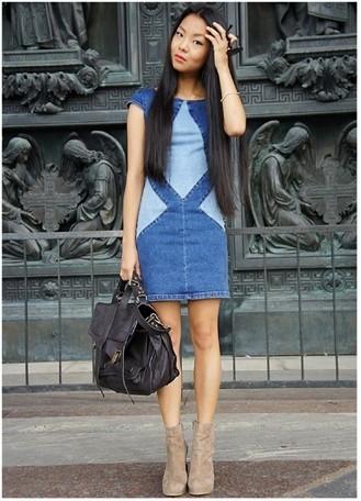 Платье из старых джинс выкройки