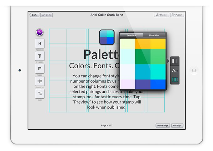 Издательская платформа Stampsy для iPad. Изображение № 6.