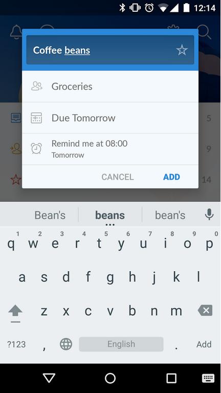 Редизайн дня: новый Wunderlist для iPhone и Android. Изображение № 5.