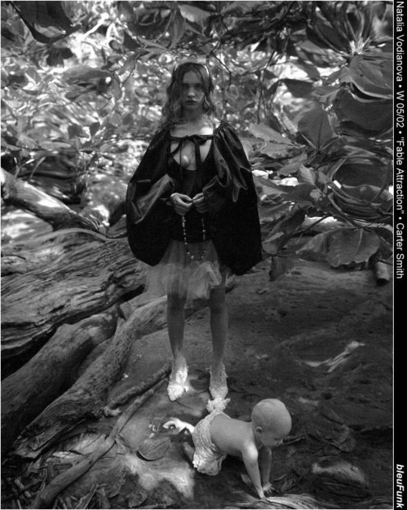 Архивная съёмка: Наталья Водянова для W, 2002. Изображение № 8.