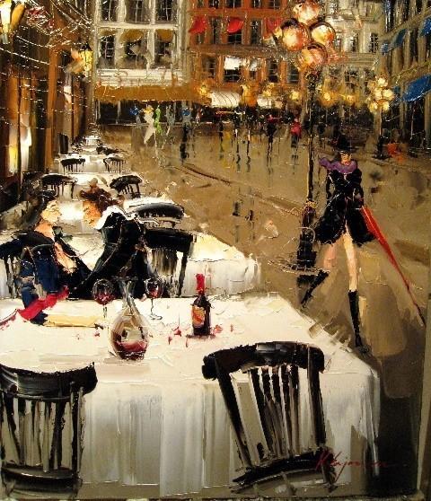 Красные зонтики художника Kal Gajoum. Изображение № 14.