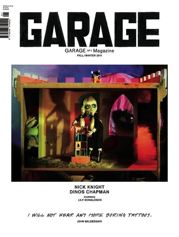 Показаны три обложки первого номера журнала Garage Даши Жуковой. Изображение № 1.