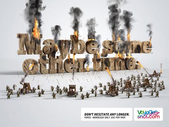 50 примеров использования типографики в рекламе. Изображение № 8.