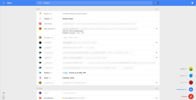 Появились скриншоты экспериментального интерфейса Gmail . Изображение № 2.