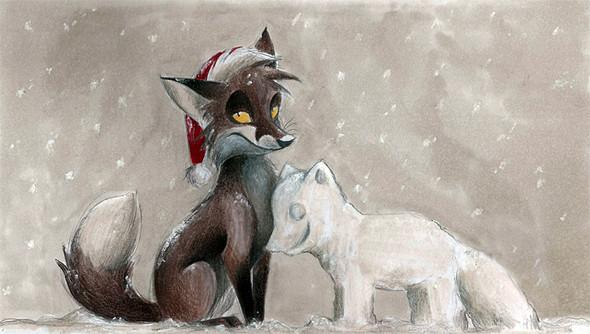 Забавные иллюстрации из жизни лисиц от Skia. Изображение № 16.