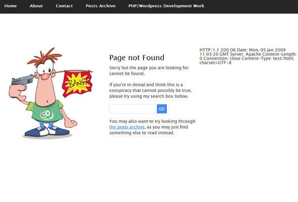 20 Интересных оформлений страницы ошибки 404. Изображение № 8.